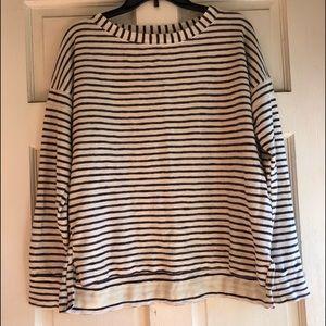 Madewell striped long sleeve sweater SZ M